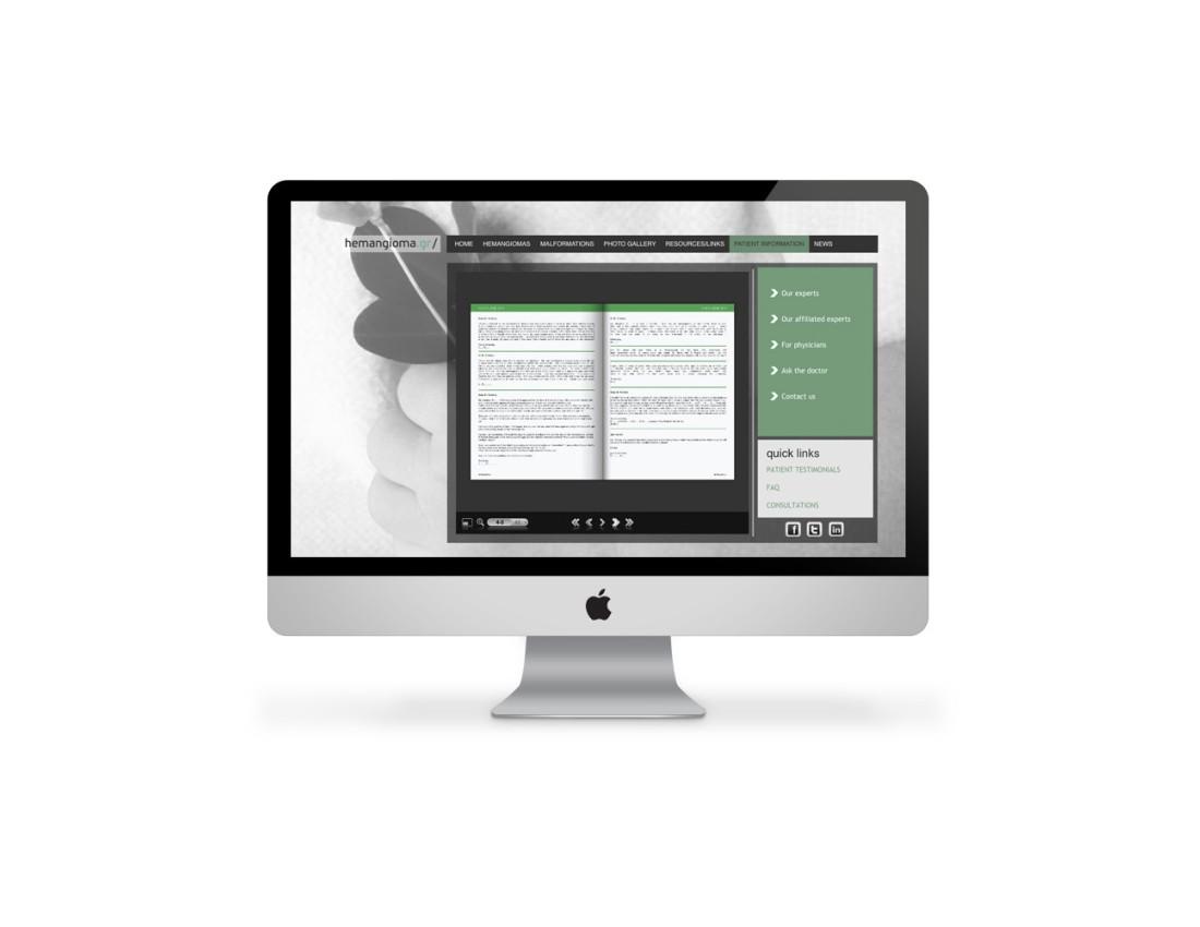 Hemangioma Web Design 1